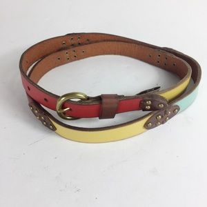 Fossil Multicolor Gold Studded Women's L Chic Belt